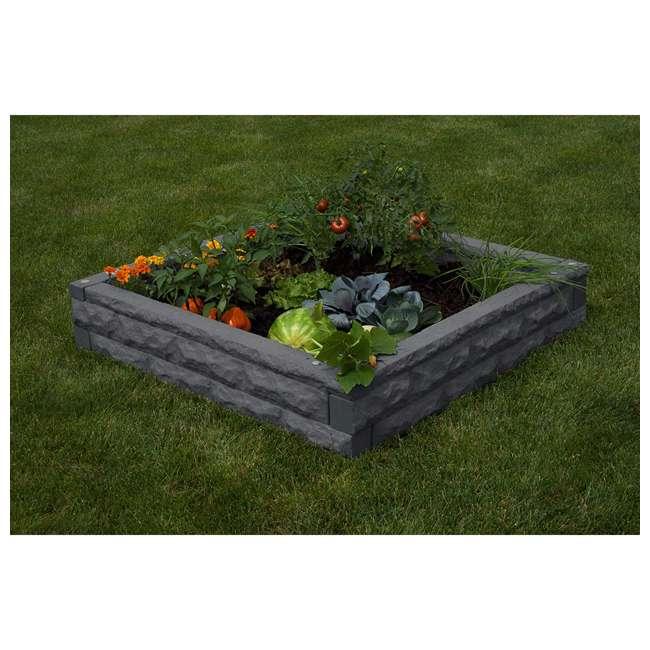 GW-RBG-DAR Good Ideas Garden Wizard Outdoor Self Watering Raised Garden Bed, Dark Granite 5