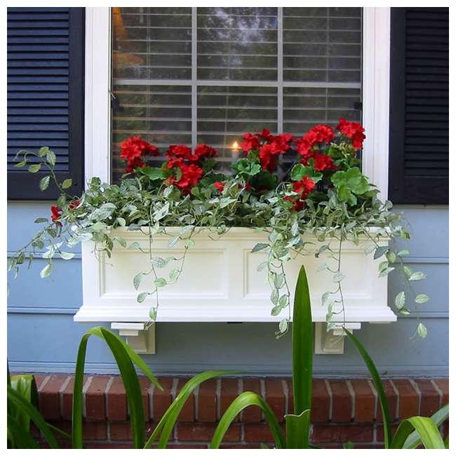 MO-5822-W Mayne Fairfield 2 Ct Windowsill Planter Box Decorative Bracket Supports, White 4
