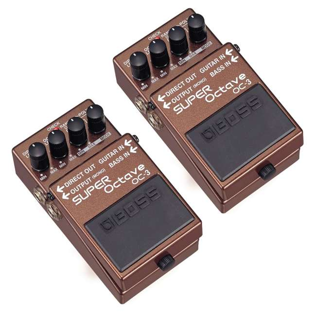 OC-3 Boss OC-3 Electric Guitar Dual Super Octave Guitar Pedal, Brown (2 Pack)