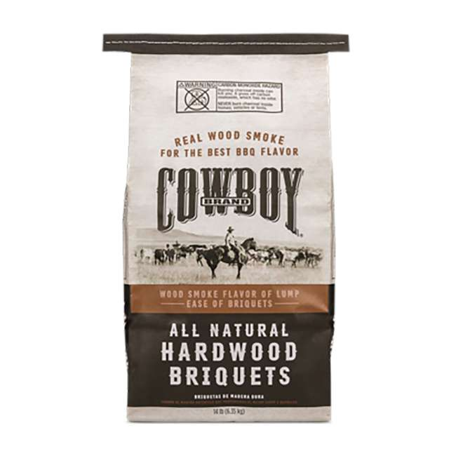 4 x 26014 Cowboy 14 LB All Natural Range Hardwood Charcoal Briquets for Grilling (4 Pack) 1