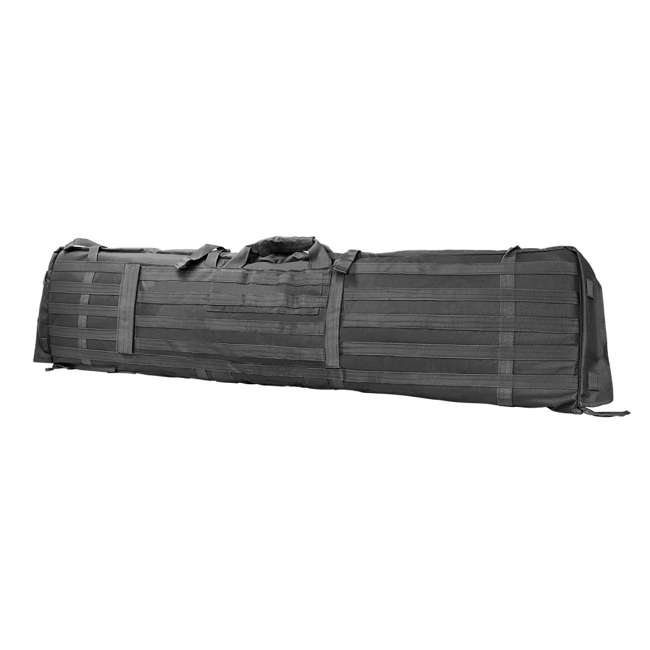CVSM2913U NcSTAR VISM Soft Padded Gun Case Rifle Carry Bag & 5.5' x 3' Shooting Mat, Gray 1