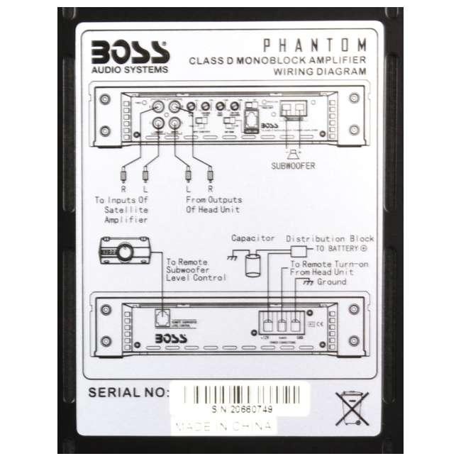 boss ph5000d 5000w phantom d mono car audio power amplifier  boss phantom sub wiring diagram series #40