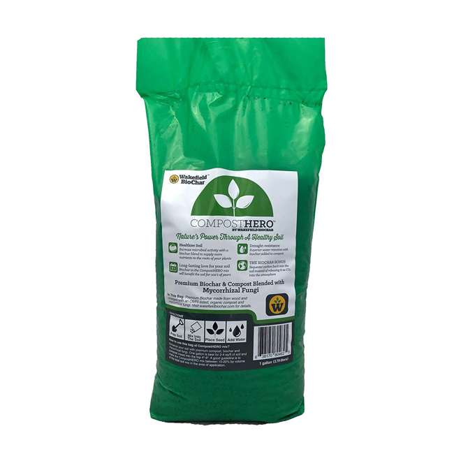 WFHERO-CMP-SM Wakefield HERO Blend 1 Gal Biochar Organic Garden Compost w/ Mycorrhizal Fungi