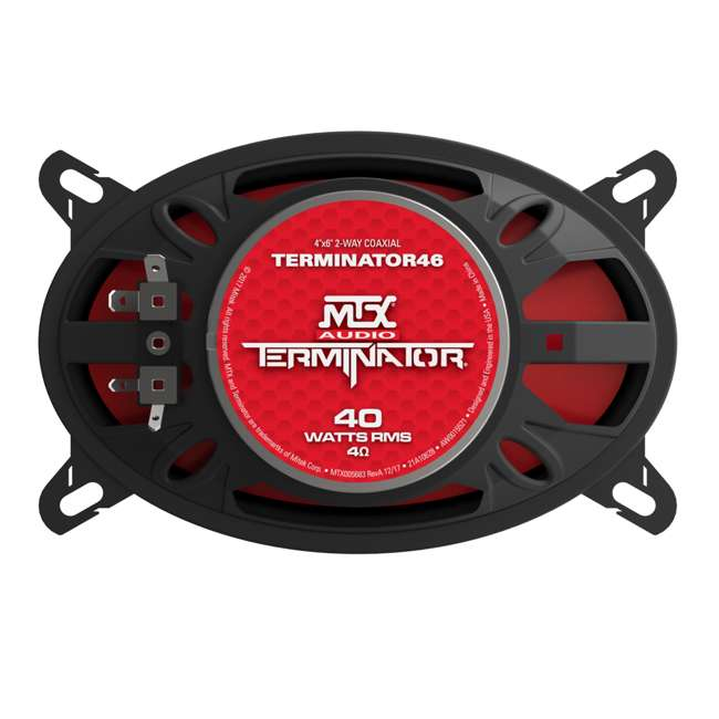 TERMINATOR46 MTX Terminator46 4 X 6 Inch 2 Way Car Speakers 3