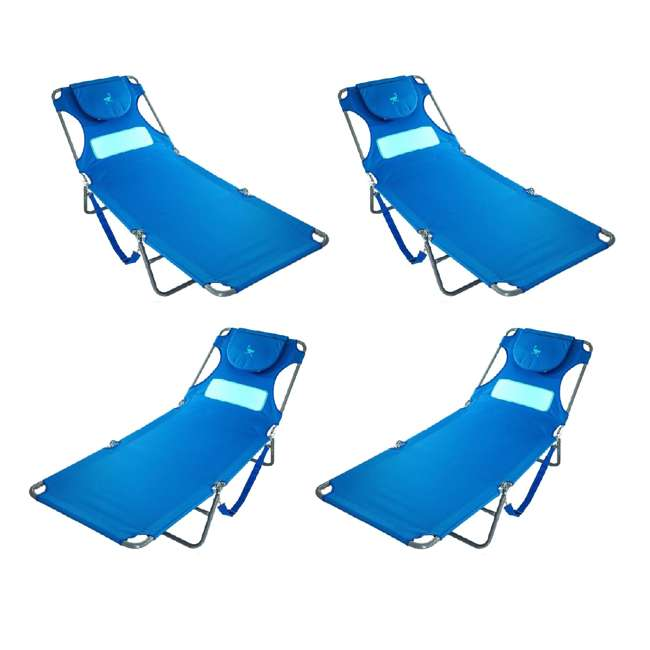 4 x LCL-1006B Ostrich Comfort Lounger Face Down Sunbathing Chaise Lounge Beach Chair (4 Pack)