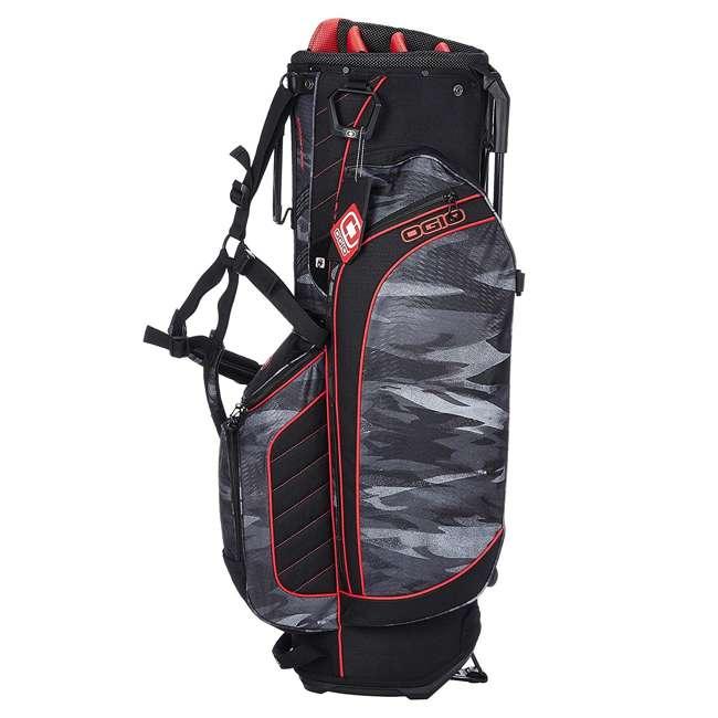 Ogio Stinger 8 Way Top Golf Stand Bag Urban Camo Red