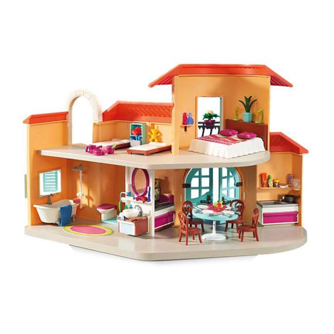9420 Playmobil 9420 Summer Villa Interactive Doll House & Figures Play Set, Ages 4+ 1