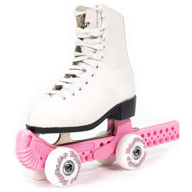 10934-P + 0G144500T1A-S Rollergard ROC-N-Roller Guard, Pink (2 Pack) & Bladerunner Micro Ice Girl Skates 1