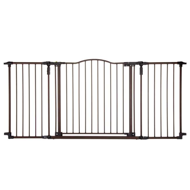 4934 + 2 x 4938 North States Deluxe Decor Baby and Pet Metal Gate + 2 15-Inch Extensions 1