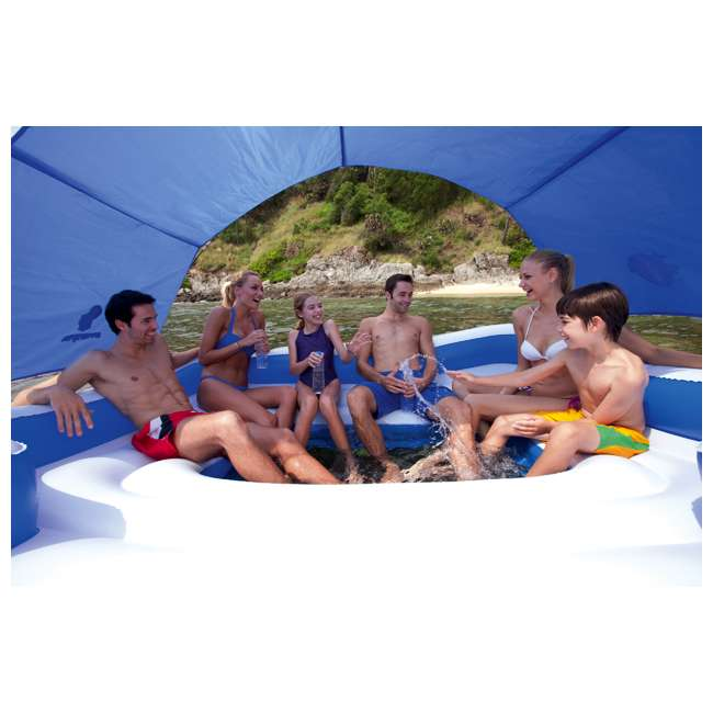 43105E-BW + 43115E-BW Bestway CoolerZ Tropical Breeze 6 Person Floating Island with 4 Person Island 5