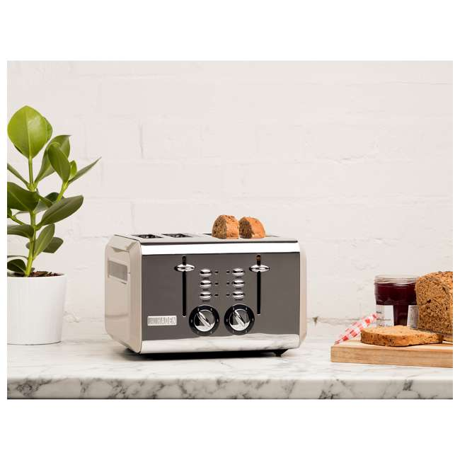 75011 Haden 75011 Cotswold Wide Slot Stainless Steel Retro 4 Slice Toaster, Beige 5