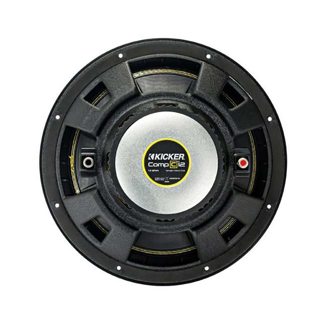 QDODGE124DOOR + 2 x44CWCS124+R1100M+4GAMPKIT-SFLEX 2 Kicker 12-Inch 600W Subwoofers w/ Dodge Ram Quad Cab '02- 12-Inch Box with Amp with Wiring (Pair) 10