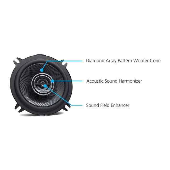 KFC-1396PS Kenwood KFC-1396PS 5.25 Inch 320 Peak Watt 2 Way Car Audio Woofer Cone Speakers 1