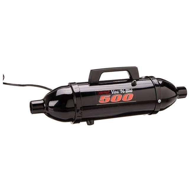 VM12500T MetroVac Vac N Blo 500 Watt Hi Performance Hand Vac and Blower with Turbo Brush, Black 1