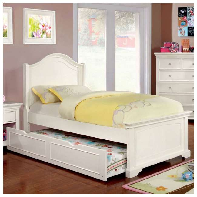 IDF-7943WH-TR-U-A Furniture of America Transitional Child Wood Trundle Only, White (Open Box) 2