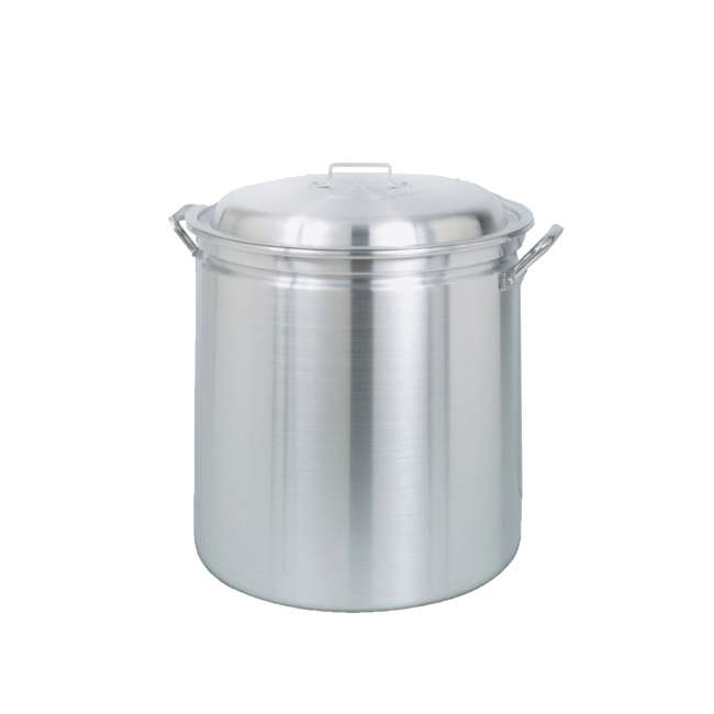 1182-U-C Bayou Classic 82 Qt Stainless Steel Stockpot Soup Pot w/ Lid Basket (For Parts) 2