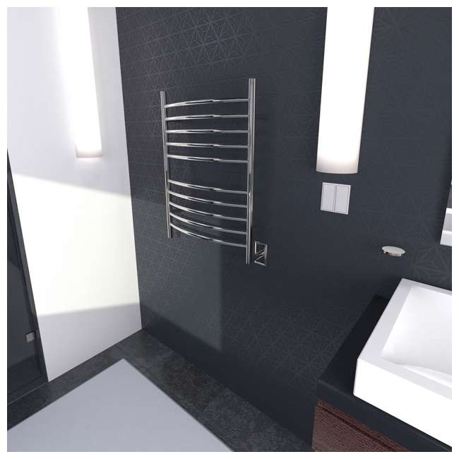 RWH-CP Amba Radiant Hardwired Curved Electric Towel Warmer (2 Pack) 2
