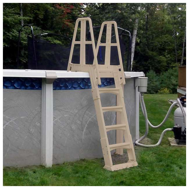 SLA-T Vinyl Works A-Frame Ladder for Pools 48-56 Inches Tall (2 Pack) 4