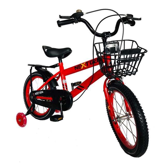 16BK-R NextGen 16 Inch Childrens Kids Bike Bicycle with Training Wheels & Basket, Red 1
