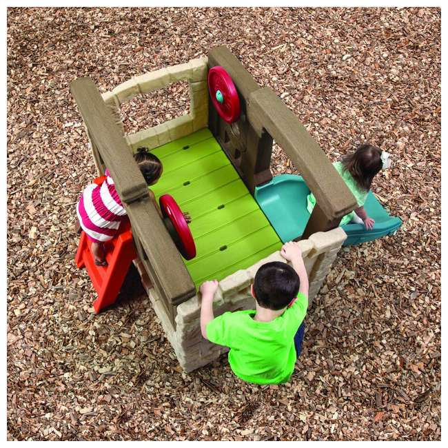 4902KR Step2 Naturally Playful Woodland Climber II Outdoor Activity Center with Slide 2