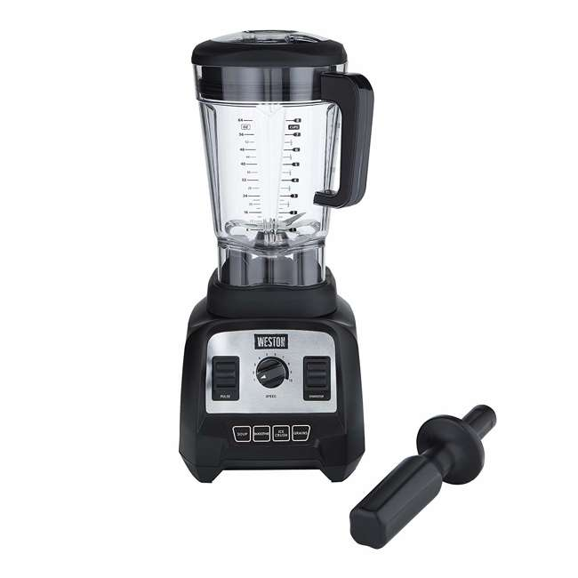 58914 Weston 58914 Professional 64 Ounce Countertop Blender w/ Recipe Book, Black