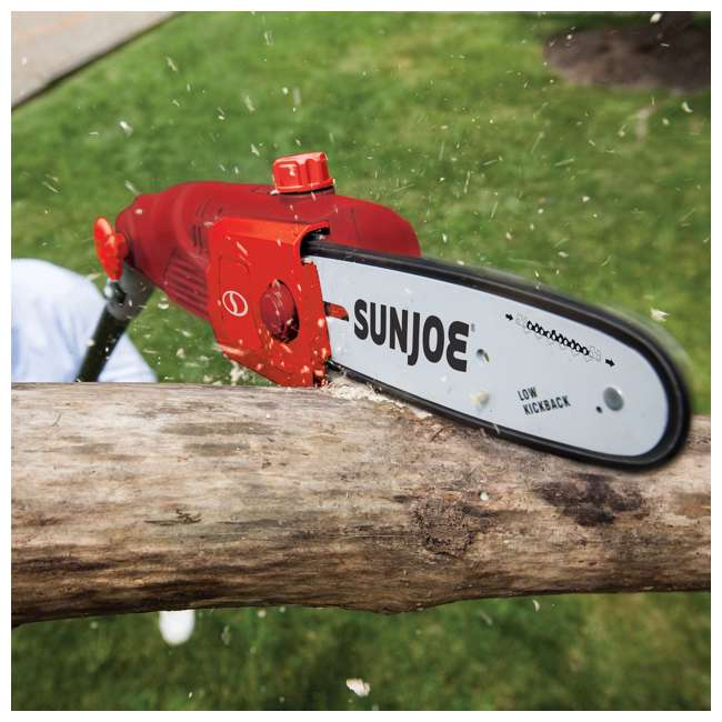 SUJ-SWJ803E-RED-RB Sun Joe Electric 10-Inch Pole Saw, Red (Certified Refurbished) 3
