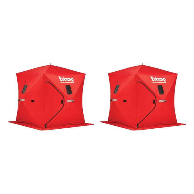 Eskimo 69151 Quickfish 2-Person Ice Fishing Shelter (2 Pack)