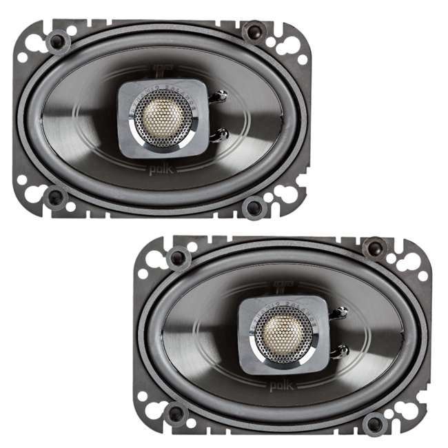 DB462 + 43DSC504 Polk Audio 150W Speakers w/ Kicker 200W Car Audio Speakers 1