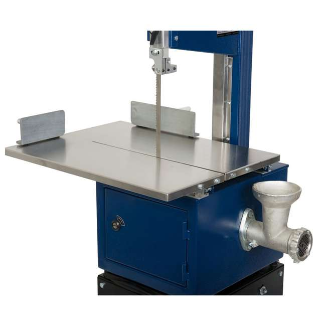 10-308 RIKON 10-308 10 Inch Meat Saw with Stainless Steel Sliding Table and Grinder 4