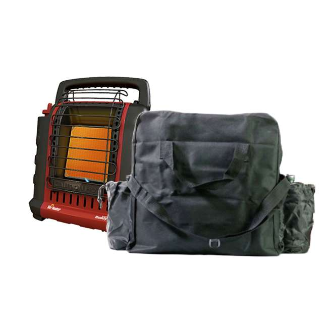 MH-F232000 + MH-13432 Mr. Heater Portable Buddy Propane Gas Heater with Carry Bag