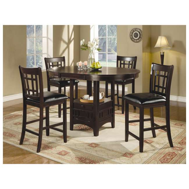 3 x 102889ii-PAIR Coaster Home Furnishings Lavon Hardwood Bar Stool, Black and Espresso (6 Pack) 3