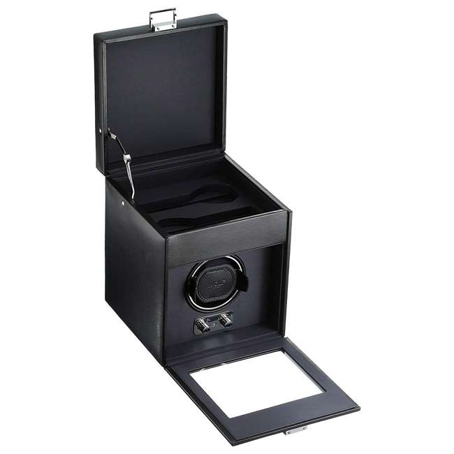 270302 WOLF 270302 Heritage 2.1 Single Watch Winder with Cover and Storage, Black 1