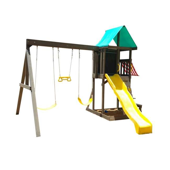 KDK-F29015 KidKraft Newport Wooden Playset with Swings and Slide  1