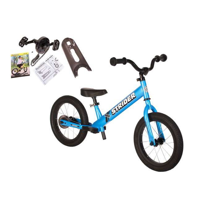 SK-SP1-US-BL-OB Strider 14x 2-in-1 Kids Balance to Pedal Bike Kit, Blue (Open Box)