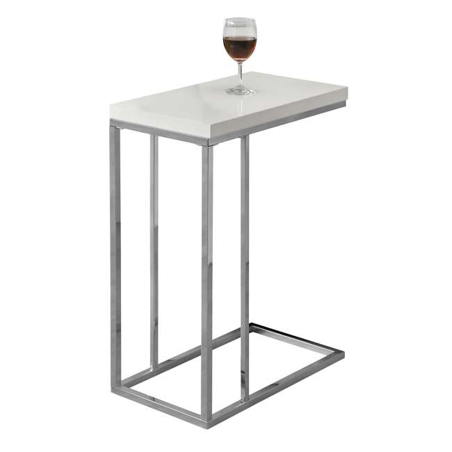 MS-VM3008-U-A Monarch Specialties Contemporary Accent End Table, White (Open Box) (2 Pack)