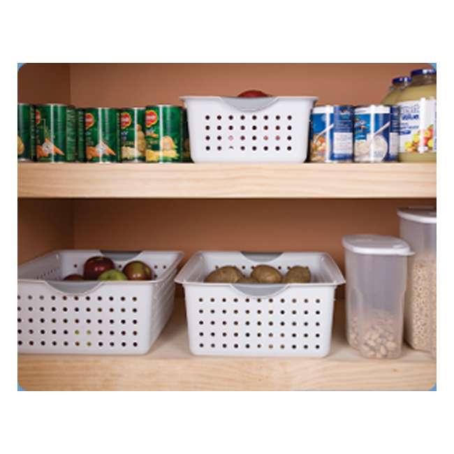 72 x 16248006-U-A Sterilite 16248006 Medium Ultra Plastic Storage Bin Organizer -White (72 Pack) 4