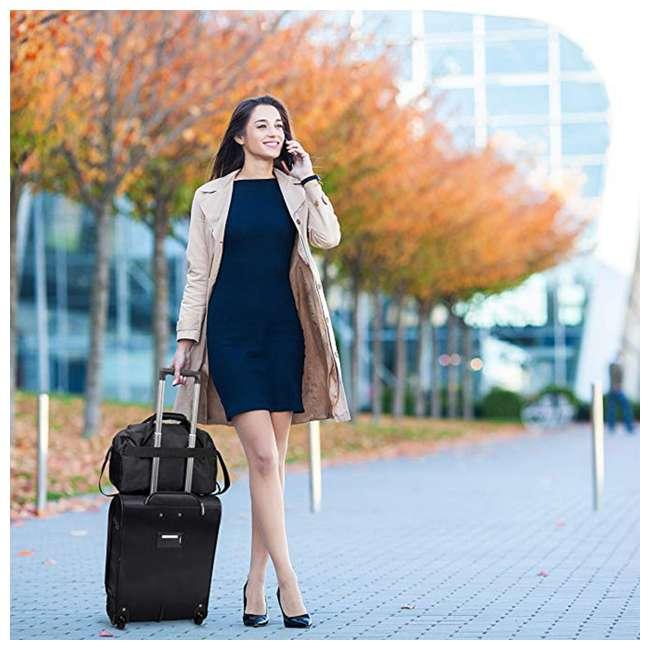 AERO9611 BLACK FBA Aerolite Maximum Allowance Heavy Duty Airline Approved Carryon Suitcase, Black 4