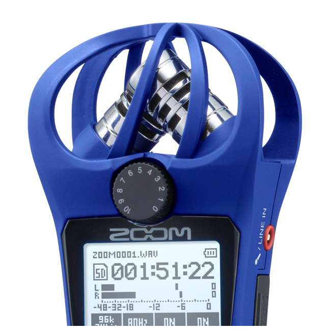 H1N-BLUE Zoom Handy Portable Wireless Digital Audio Recorder & Mike, Blue 4