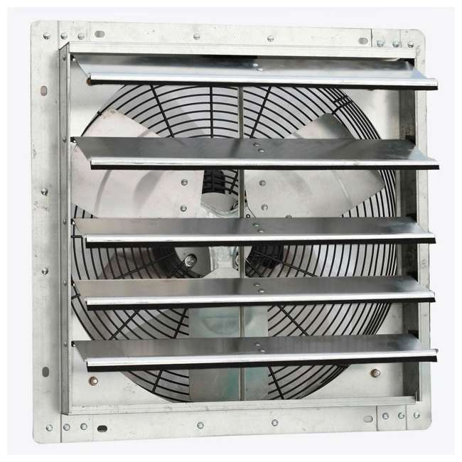 ILG8SF18V iLiving 18-Inch Variable Speed Wall-Mounted Shutter Exhaust Fan 1