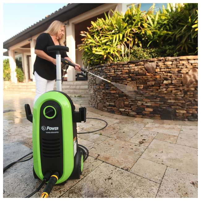 NXG-2200G-U-D Bloom USA PSI 1.76 GPM 14.5 Amps Electric Pressure Power Washer, Green (Damaged) 5