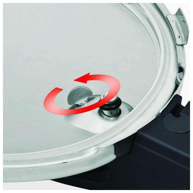 FISS-60030006079 Fissler Vitaquick 6.4 Quart Stainless Steel Stove Top Steam Pressure Cooker Pot 4