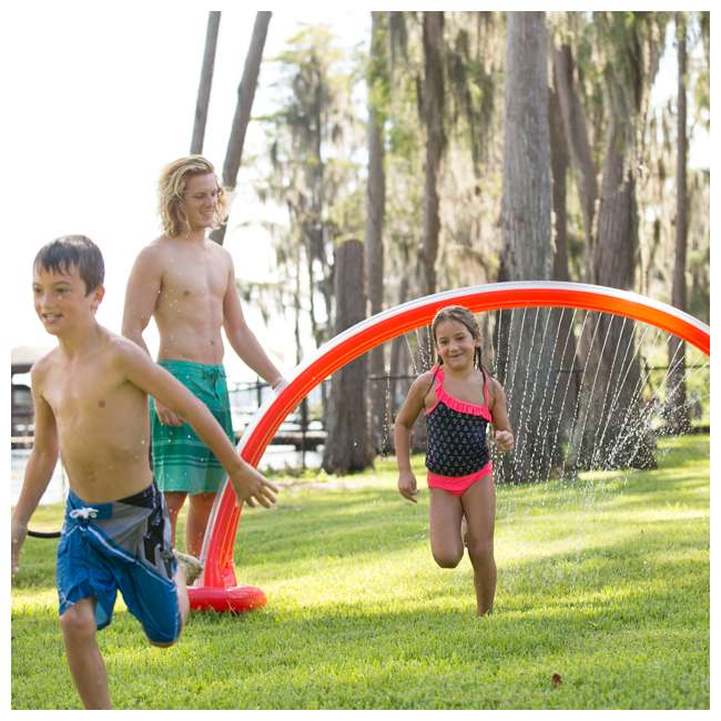 WMO-61394 Wham-O Inflatable Outdoor Water Giggle 'N Splash Rainbow Arch Sprinkler, Blue 3