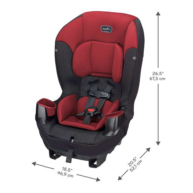 34812023 Evenflo Sonus 65 2 in 1 Convertible Infant Baby Toddler Car Seat (Open Box)