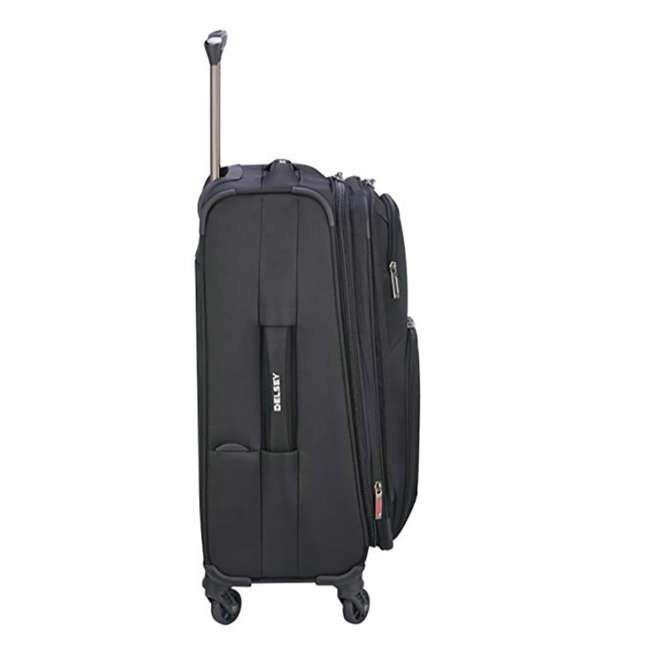 "40328280500 DELSEY Paris Sky Max 20"" Expandable Spinner Upright Large Travel Carry On, Black 1"