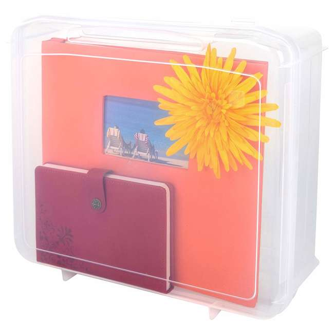 585122-4PK IRIS USA 12 x 12 Inch Hard Plastic Portable Clear Project Case for Paper, 4 Pack 5