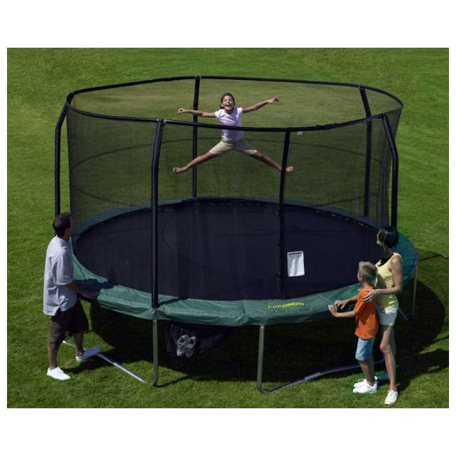 Jumpking 14ft Jumppod Deluxe Trampoline With Enclosure: JumpKing JumpPod Elite 15' POD Trampoline & Enclosure