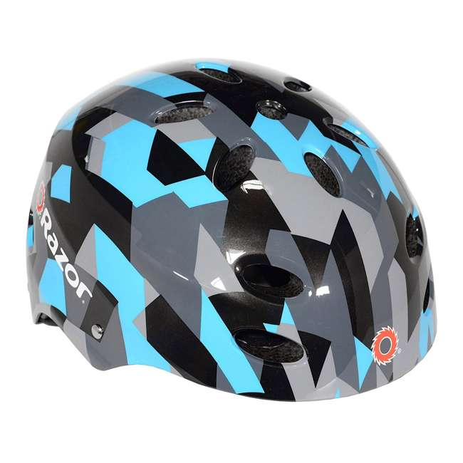 114-NXT + 97916 NextGen Scooters Denver Scooter, Blue/Black & Razor Helmet, Geo Black/Blue 2