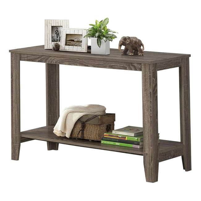 VM-7915S-U-A Monarch Specialties 44 Inch Accent Console Hall Table, Dark Taupe (Open Box) 1