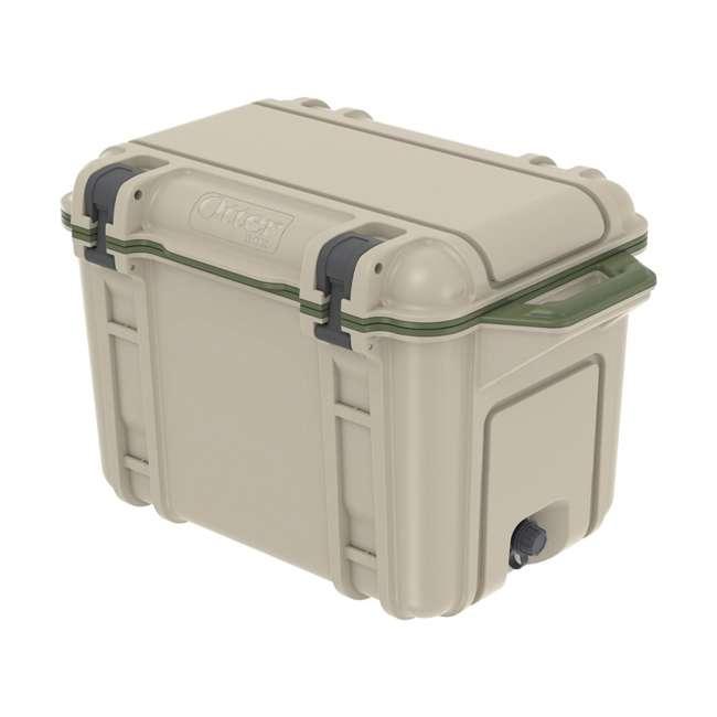 77-54463 Otterbox Venture Heavy Duty Outdoor Camping Fishing Cooler 45-Quarts, Tan/Green 2