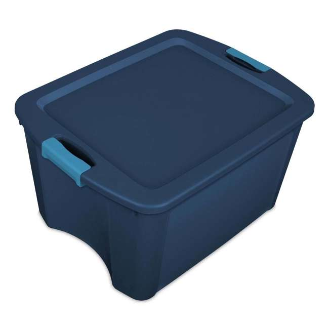 18 x 14467406-U-A Sterilite 18 Gallon Latch and Carry Storage Tote Box (Open Box) (18 Pack)